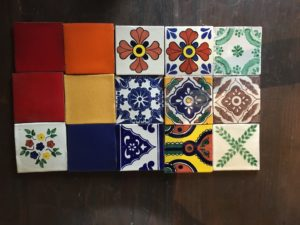 "4"" x 4"" Hand Painted Clay Tiles"
